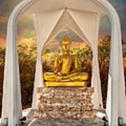 Sitting Buddha Art Print