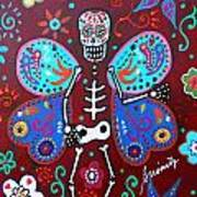 Skellyfly Day Of The Dead Art Print