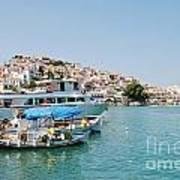 Skopelos Harbour Greece Art Print