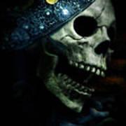 Skull In Crown Art Print