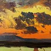 Sky At Sunset Jamaica West Indies Art Print