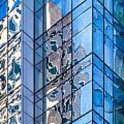 Sky Blue Glass Art Print
