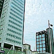 Skyscrapers In Leeuwarden-netherlands  Art Print
