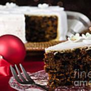 Slice Of Christmas Cake Art Print