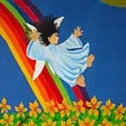 Sliding Down Rainbow Art Print
