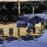 Small Boats And Dock In Port Clyde Maine Art Print