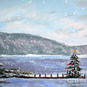 Smith Mountain Lake Christmas Art Print