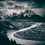 Snake River In The Tetons - 1930s Art Print