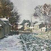 Snow At Argenteuil Art Print by Claude Monet