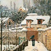 Snow At Louveciennes  Art Print
