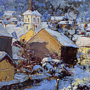 Snow Village Art Print