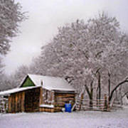 Snowy Day On The Farm Art Print