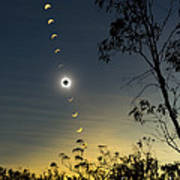 Solar Eclipse Composite, Queensland Art Print
