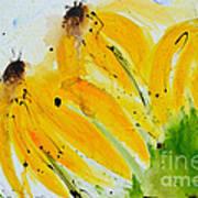 Sonnenhut -  Floral Painting  Art Print