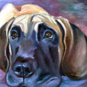 Soulful - Great Dane Art Print by Lyn Cook