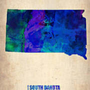 South Carolina Watercolor Map Art Print