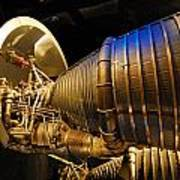 Space Rocket Thrust Engine Art Print