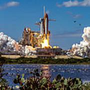 Space Shuttle Atlantis Launch Art Print
