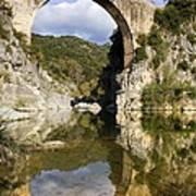 Spain. Gerona. Garrotxa. Bridge Art Print
