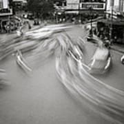 Swirling Motion Art Print
