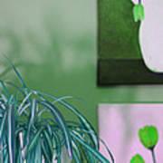 Spider Plant - Green Tulips - Still Life Art Print