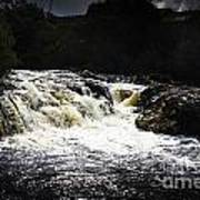 Splashing Australian Water Stream Or Waterfall Art Print
