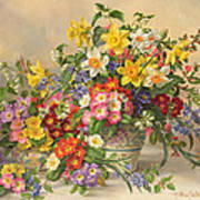 Spring Flowers And Poole Pottery Art Print