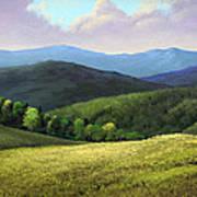Spring Hills Art Print
