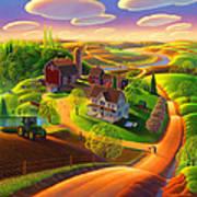 Spring on the Farm Art Print