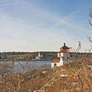 Squirrel Point Lighthouse Kennebec River Maine Art Print