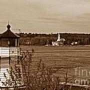 Squirrel Point Lighthouse Art Print by Skip Willits
