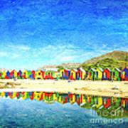 St James Beach Huts South Africa Art Print