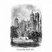 St. Louis High School - 1874 Art Print