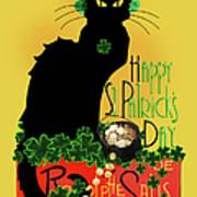 St Patrick's Day - Le Chat Noir Art Print