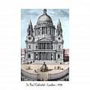 St. Paul Cathedral - London - 1792 Art Print