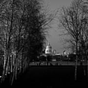 St Paul's With Silver Birches Art Print