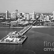 St Petersburg Skyline And Pier Art Print