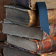 Stack Of Vintage Books Art Print