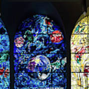 Stained Glass Chagall Windows Art Print