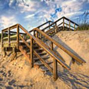 Stairway To Heaven Art Print by Debra and Dave Vanderlaan