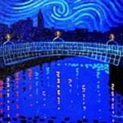 Starry Night In Dublin Art Print by John  Nolan