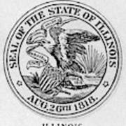 State Seal Illinois Art Print