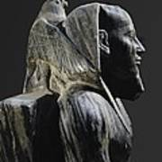 Statue Of Khafre Enthroned. 2520 Bc Art Print