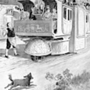 Steam Carriage, 1832 Art Print