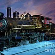 Steam Engine Nevada Northern Art Print