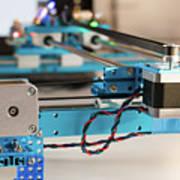 Stepper Motor On Industrial Machine Art Print
