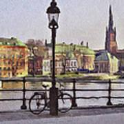 Stockholm 6 Art Print