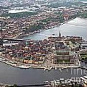 Stockholm Aerial View Art Print by Lars Ruecker