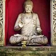 Stone Statue Of Buddha In Bali Indonesia Art Print