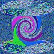 Stool Pie Chart Twirl Tornado Colorful Blue Sparkle Artistic Digital Navinjoshi Artist Created Image Art Print